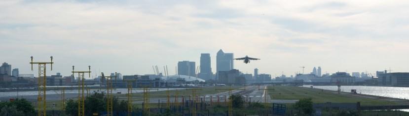 London City Airport takeoff