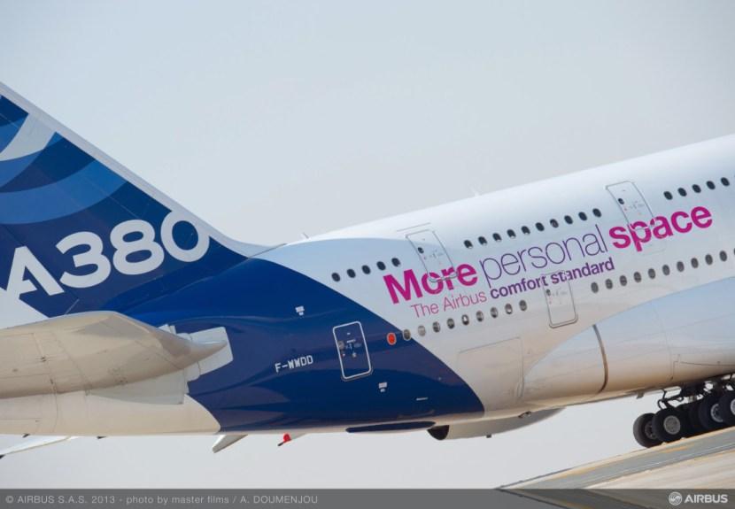 Airbus A380 at 2013 Dubai Air Show