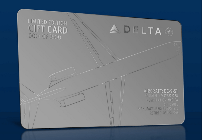 delta e gift card delta air lines sells limited edition gift cards online 2060