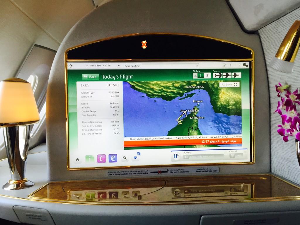 Emirates A380-800 First Class Inflight Entertainment System