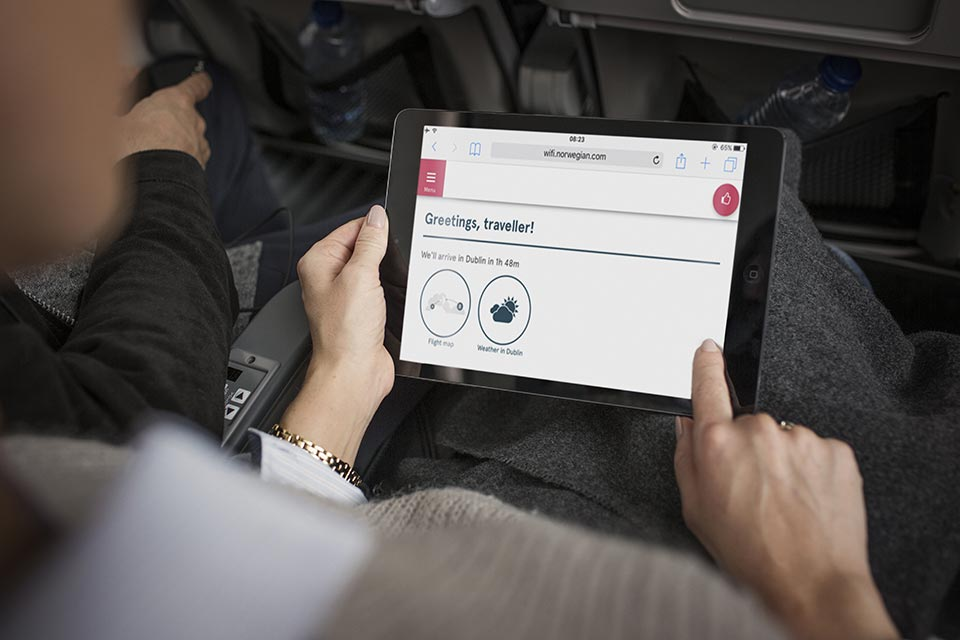 Wi-Fi On Board Source: Norwegian Air Shuttle