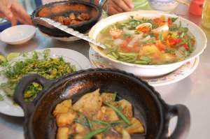 A typical Mekong lunch