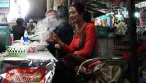 Sampling Pho in Sapa market