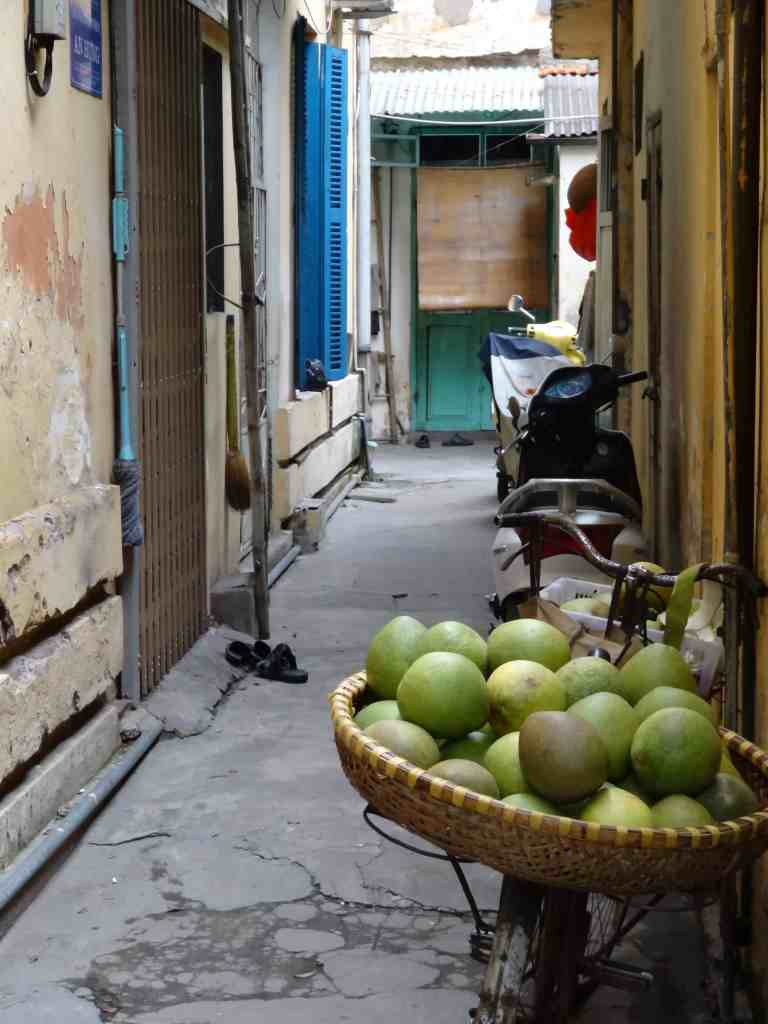 Narrow alleyways of Hanoi