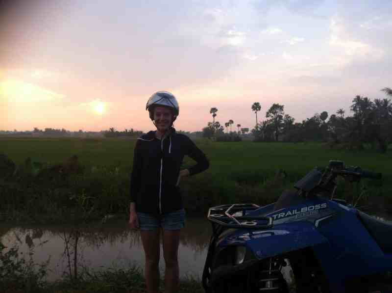 Lucy takes a Sunset quad bike tour