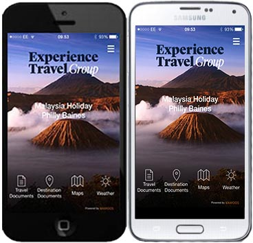 Vamoos on your smart phone. (Left iPhone and right Samsung Galaxy.)
