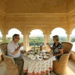 Lunch inside Bhainsrorgarh Fort