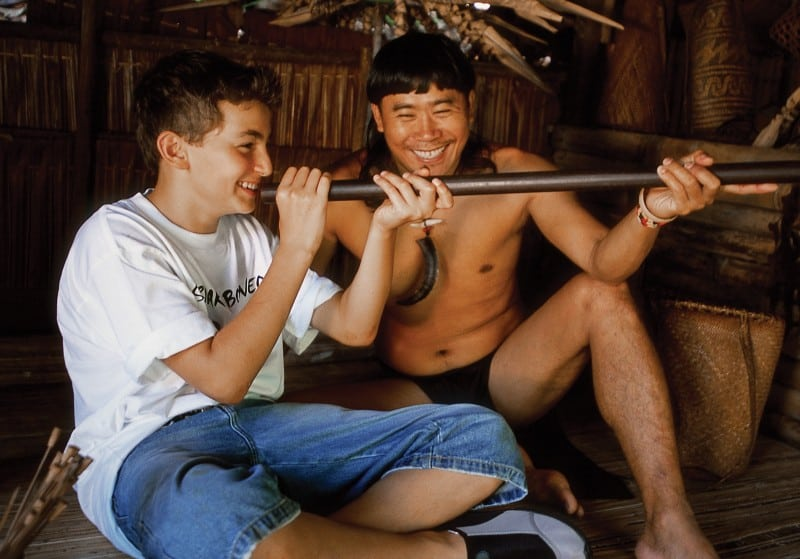 Learn the Penan skills of blow pipe at Sarawak Cultural Village