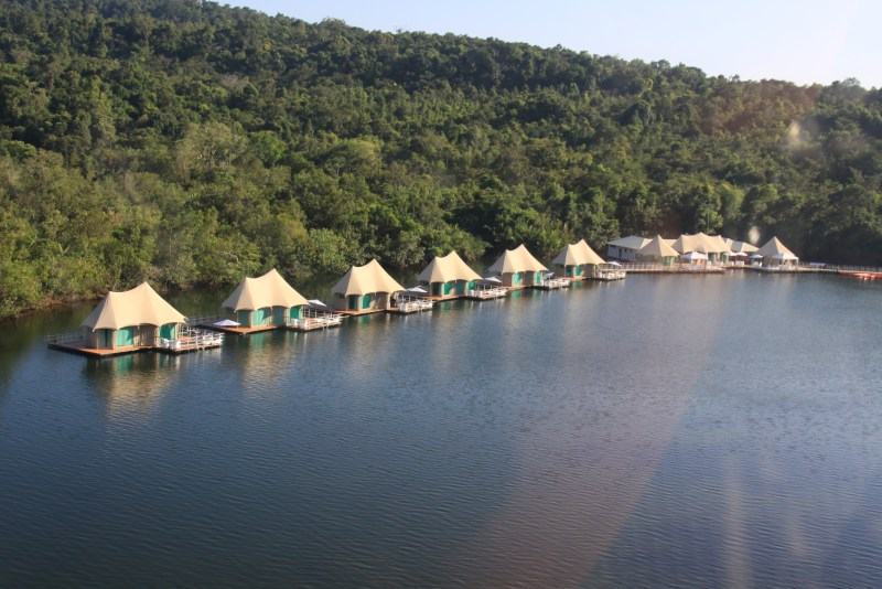 Birdview from 4 Rivers Floating Eco-Lodge