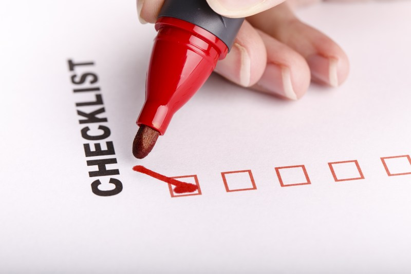 To Do list or checklist with check marks isolated on white