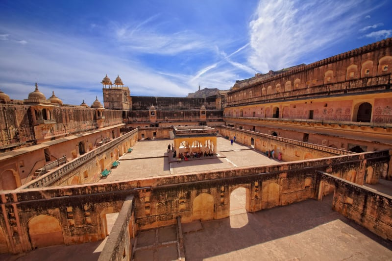 Amber fort, Jaipur, Rajasthan, India; The Fourth courthyard