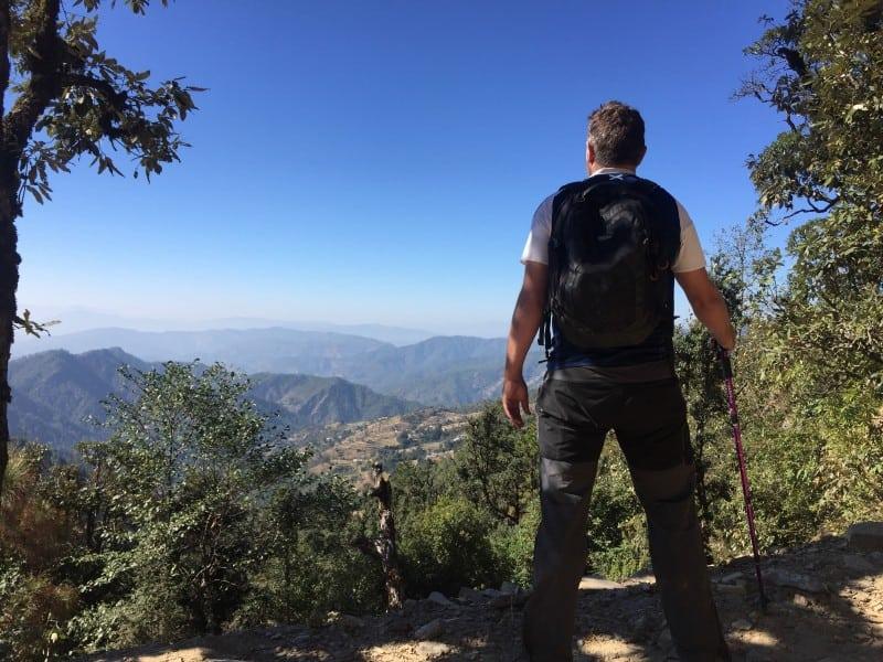 Robin hiking in the Himalayas (2)