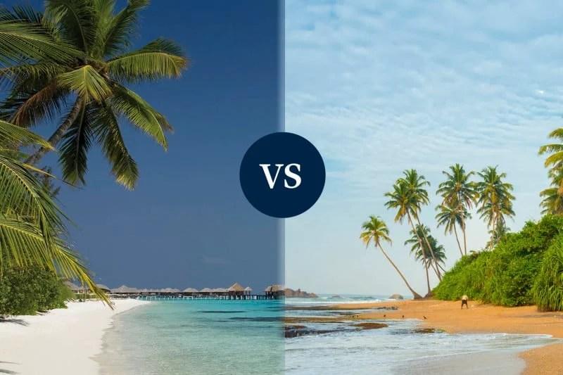 Sri Lanka beach vs Maldives
