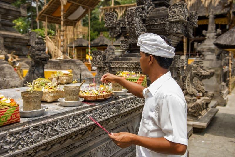 Rice Paddy walk with priest - Ida Bagus Ketut Dharma 2