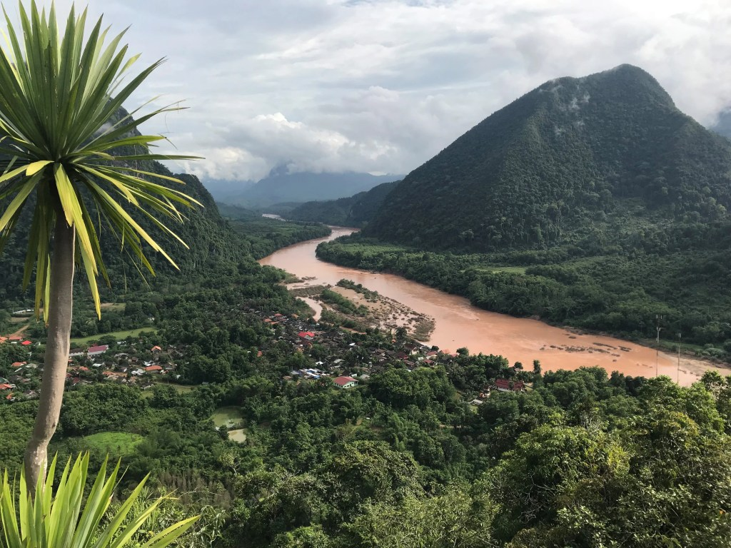 Laos rivers and mountains