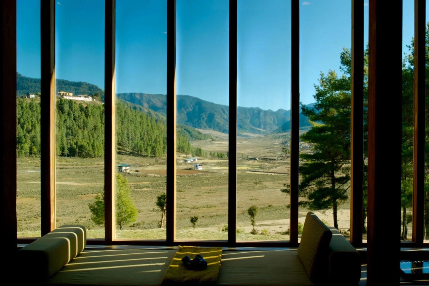 Aman Bhutan Gangtey view of the valleys