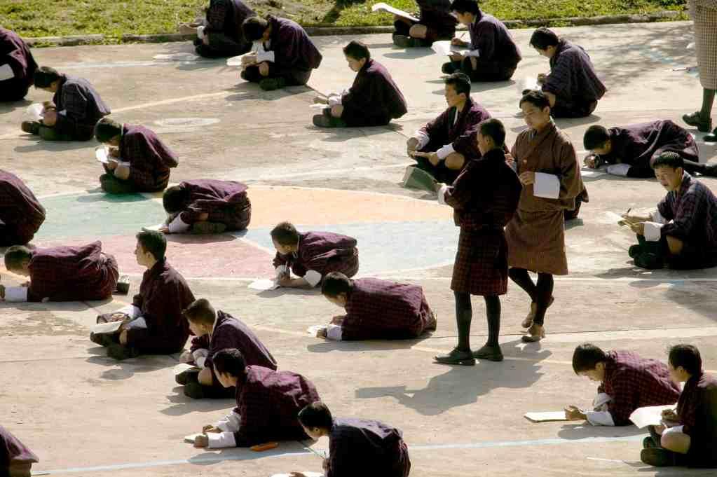 Bumthang Jakar School Kids in Bhutan