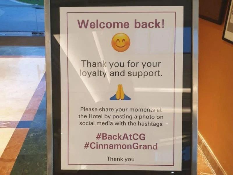 Cinnamon Grand Hotel in Sri Lanka welcomes back clients