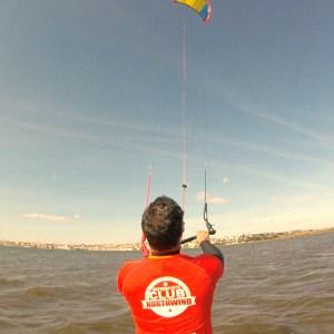 Curso kitesurf en el pantano del Ebro