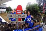 Alumnos del campamento de verano de surf con la Escuela de Surf los Locos en Suances en Cantabria