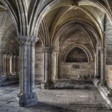Interior de Santa María la Real en Aguilar de Campoo