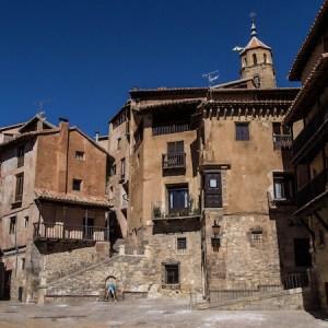 Las calles en Albarracín en la provincia de Teruel