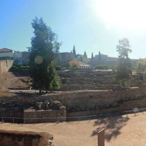La alcazaba árabe en Mérida