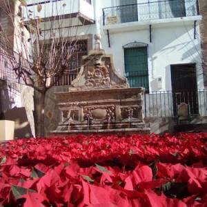 Fuente en una calle de Laujar de Andarax en Almería