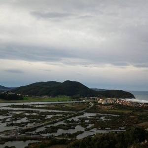 Vista de las Marismas de Santoña en Cantabria