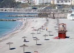 La playa de la Ribera en Ceuta