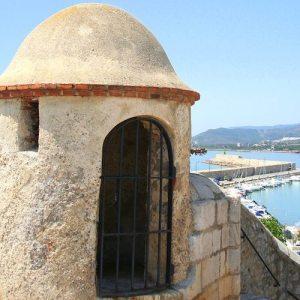 El castillo y las murallas en Peñíscola