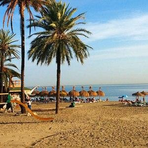 La playa de Venus en Marbella
