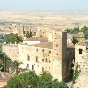 Vista del palacio de Luis de Chaves en Trujillo en la provincia de Cáceres