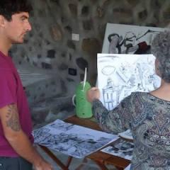 Pintores en Casarte en La Frontera en la Isla de El Hierro
