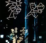 Alumbrado navideño, Ayuntamiento de Barcelona, 2003.
