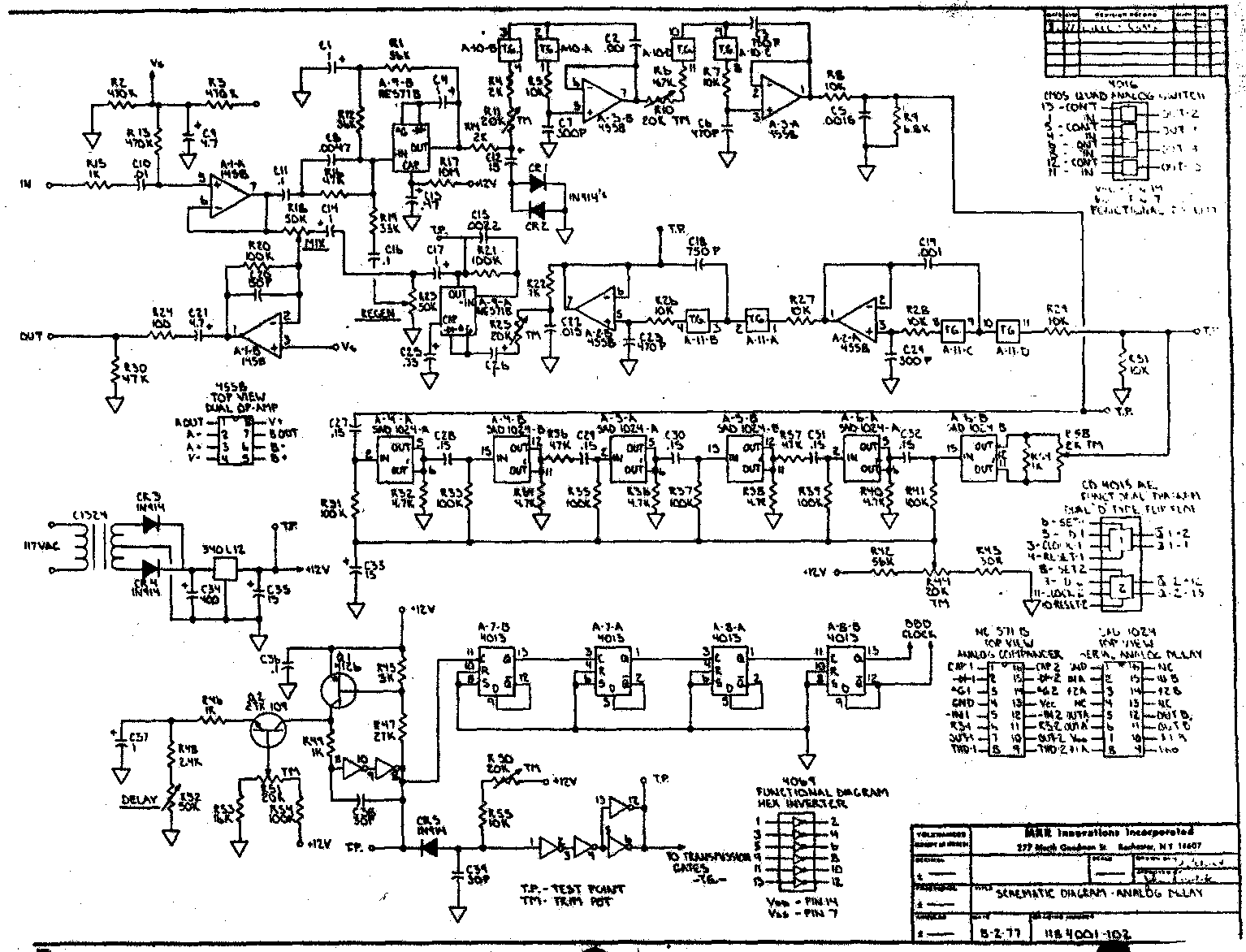 Guitar Delay Pedal Schematic