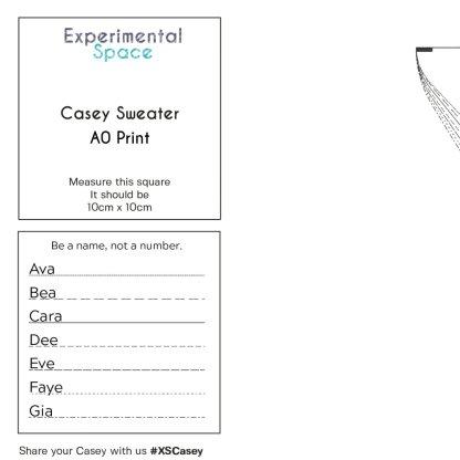 Casey Sweater A0 Print