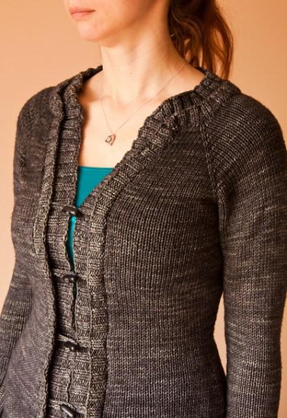 Madison Cardi : Knitting Pattern - Side