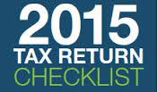 2015 Tax Return Checklist