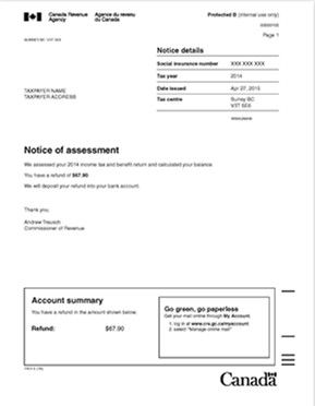 how to get notice of assessment