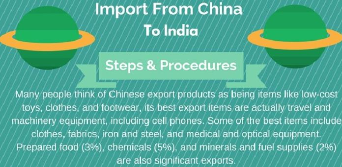 importing goods from china to india