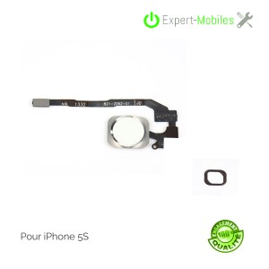 Bouton home complet argent pour iPhone 5S