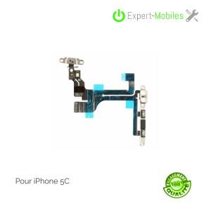 Nappe on-off volume mute pour iPhone 5c avec calles installées