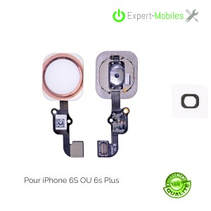 Bouton HOME pour iPhone 6S OR ROSE (compatible iPhone 6S Plus)