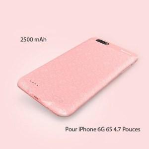 Coque chargeur BASEUS magnétique 2500 mAh pour iPhones 6G & 6S 4.7 pouces Pink