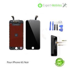 ECRAN LCD + VITRE TACTILE iPhone 6 NOIR PREMIUM PLUS KW