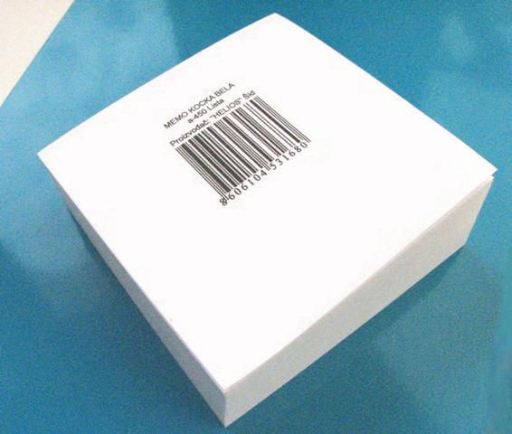 Blok kocka za poruke ,bela