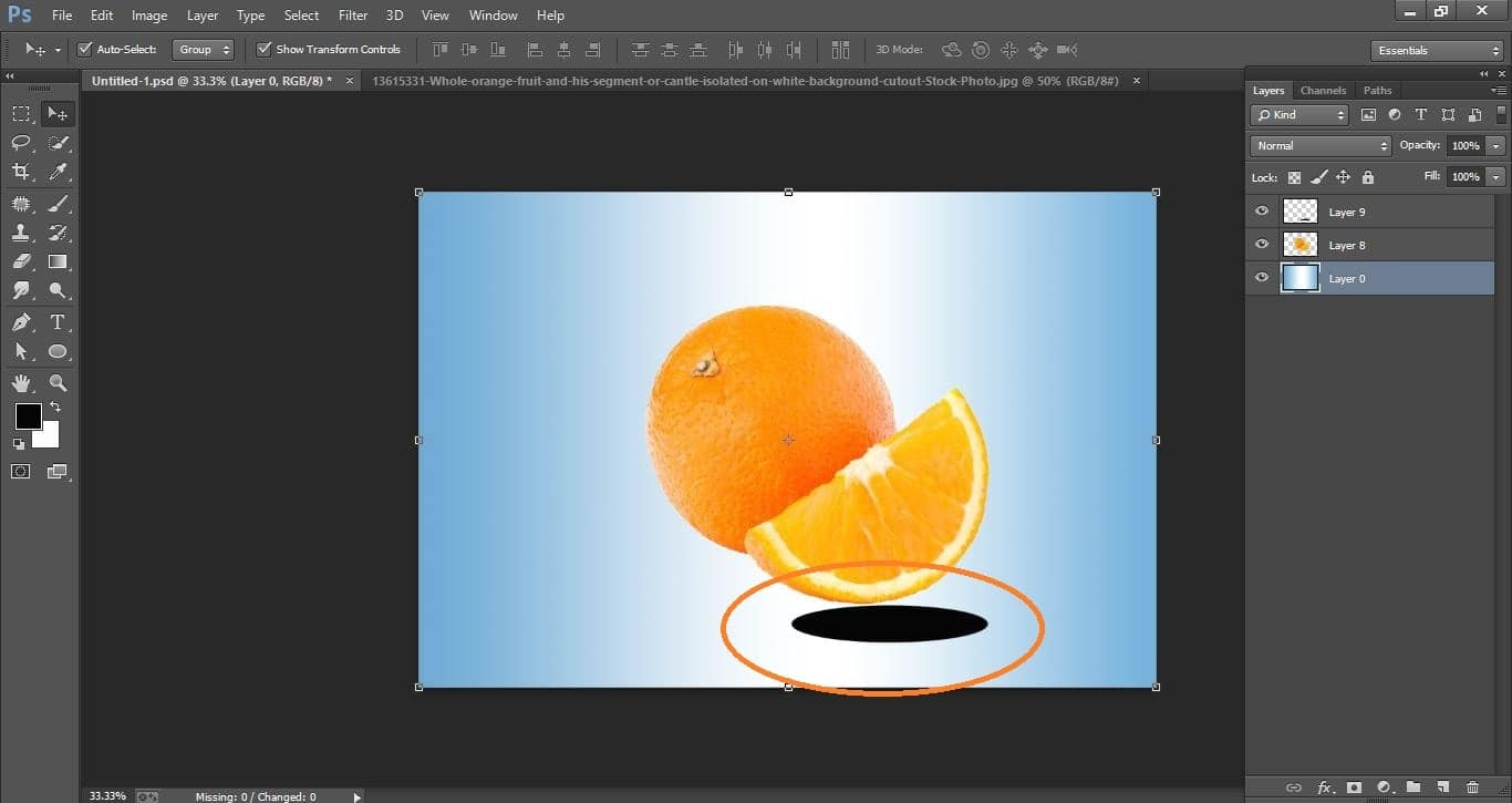 How to create water orange fruit and fish manipulation – in Photoshop