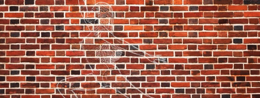 How to Transform Someone into a Huge Chalk Drawing on a Brick Wall