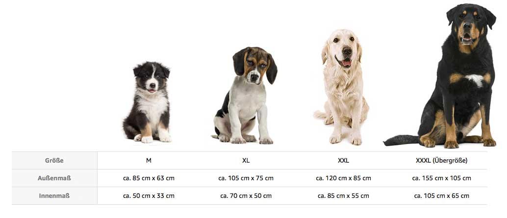 Hundegröße für Hunde-Bett